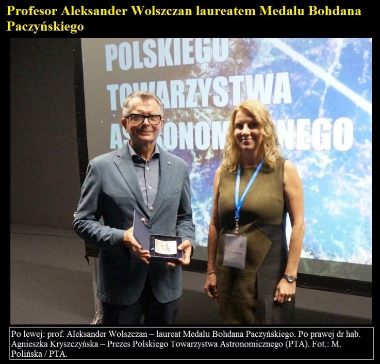Profesor Aleksander Wolszczan laureatem Medalu Bohdana Paczyńskiego.jpg