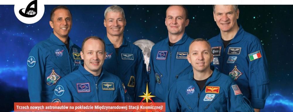 Trzech nowych astronautów na pokładzie Międzynarodowej Stacji Kosmicznej.jpg