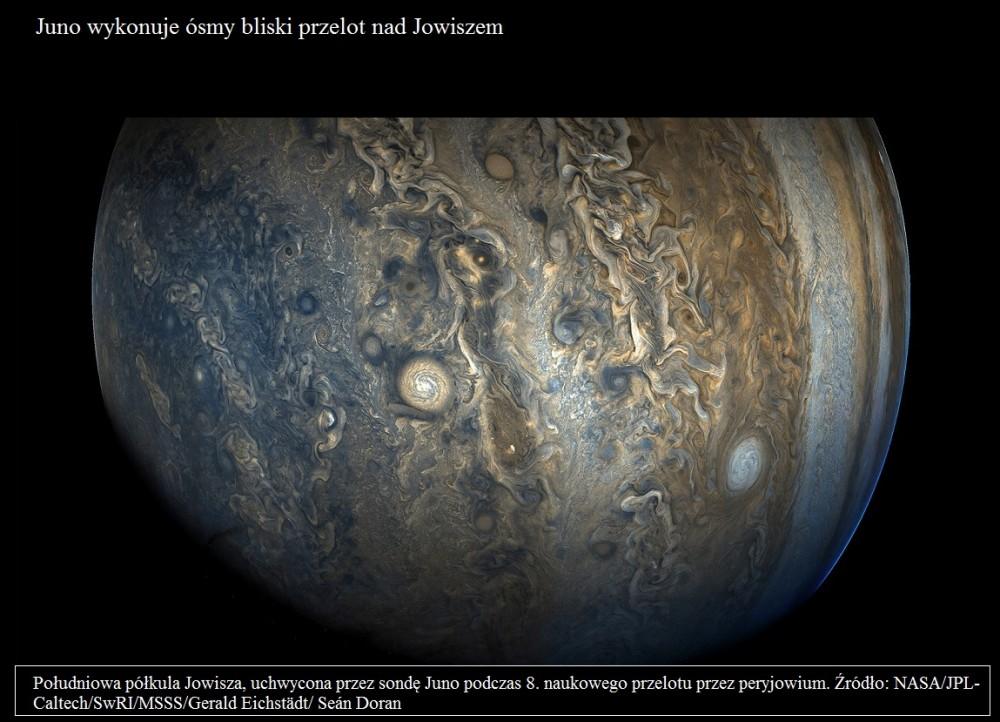 Juno wykonuje ósmy bliski przelot nad Jowiszem.jpg