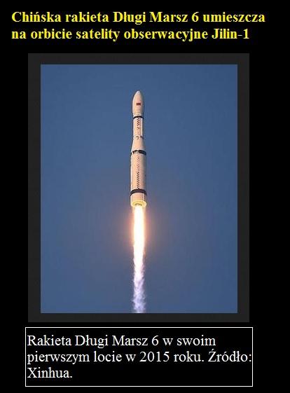 Chińska rakieta Długi Marsz 6 umieszcza na orbicie satelity obserwacyjne Jilin-1.jpg