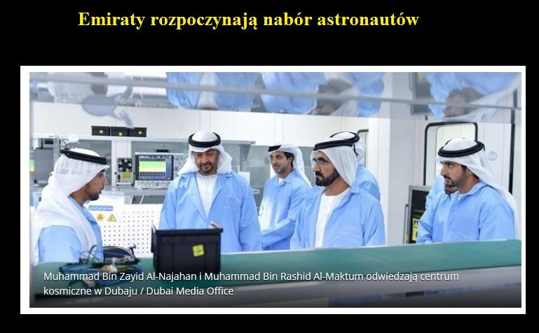 Emiraty rozpoczynają nabór astronautów.jpg