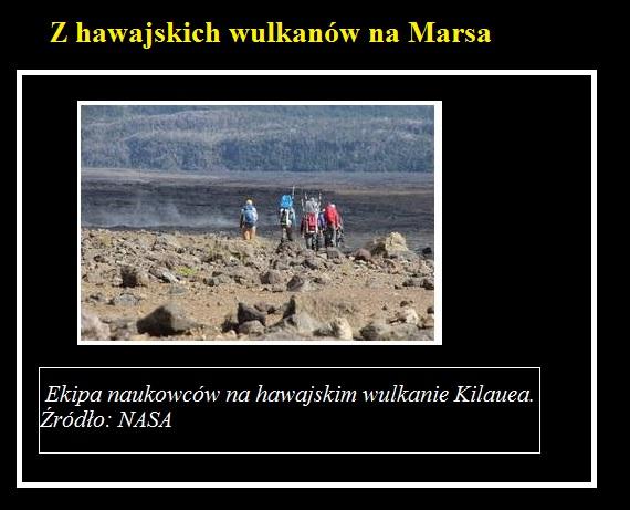 Z hawajskich wulkanów na Marsa.jpg