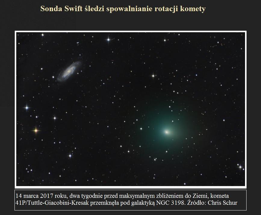 Sonda Swift śledzi spowalnianie rotacji komety.jpg
