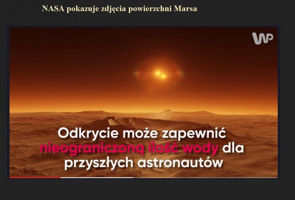 NASA pokazuje zdjęcia powierzchni Marsa.jpg