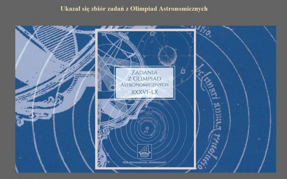 Ukazał się zbiór zadań z Olimpiad Astronomicznych.jpg
