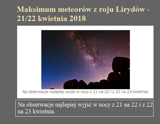 Maksimum meteorów z roju Lirydów - 21 22 kwietnia 2018.jpg