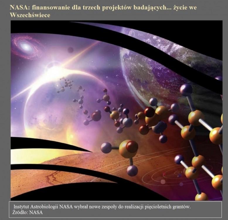 NASA finansowanie dla trzech projektów badających... życie we Wszechświece.jpg