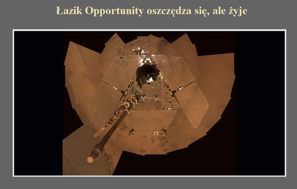 Łazik Opportunity oszczędza się, ale żyje.jpg