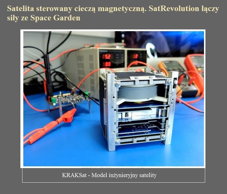 Satelita sterowany cieczą magnetyczną. SatRevolution łączy siły ze Space Garden.jpg