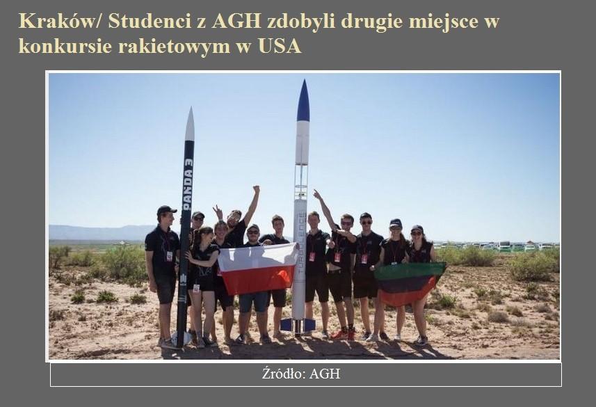 Kraków Studenci z AGH zdobyli drugie miejsce w konkursie rakietowym w USA.jpg