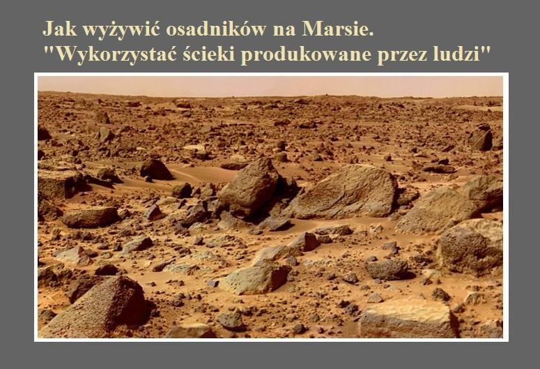 Jak wyżywić osadników na Marsie. Wykorzystać ścieki produkowane przez ludzi.jpg