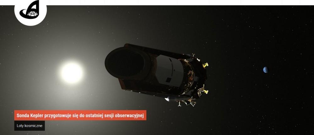 Sonda Kepler przygotowuje się do ostatniej sesji obserwacyjnej.jpg