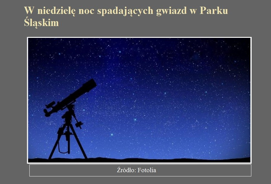 W niedzielę noc spadających gwiazd w Parku Śląskim.jpg