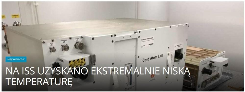 Na ISS uzyskano ekstremalnie niską temperaturę .jpg