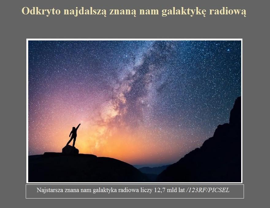 Odkryto najdalszą znaną nam galaktykę radiową.jpg