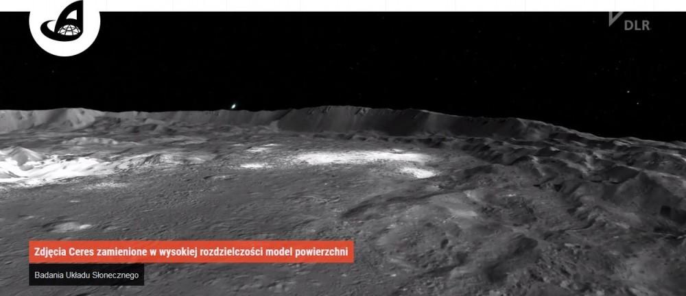 Zdjęcia Ceres zamienione w wysokiej rozdzielczości model powierzchni.jpg