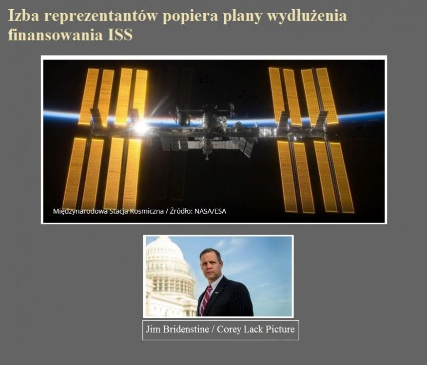 Izba reprezentantów popiera plany wydłużenia finansowania ISS.jpg