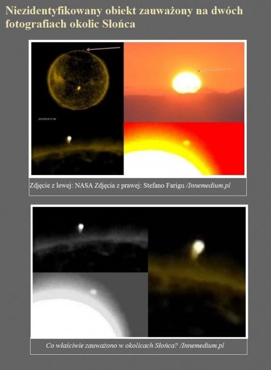 Niezidentyfikowany obiekt zauważony na dwóch fotografiach okolic Słońca.jpg