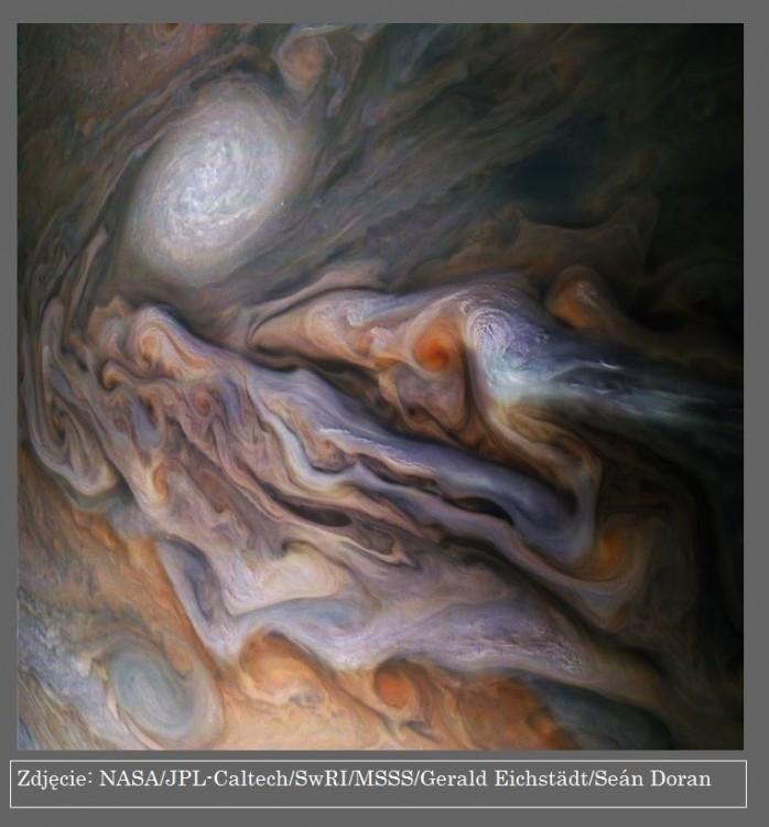 Sonda Juno znów nad Jowiszem, kolejne odkrycia misji2.jpg