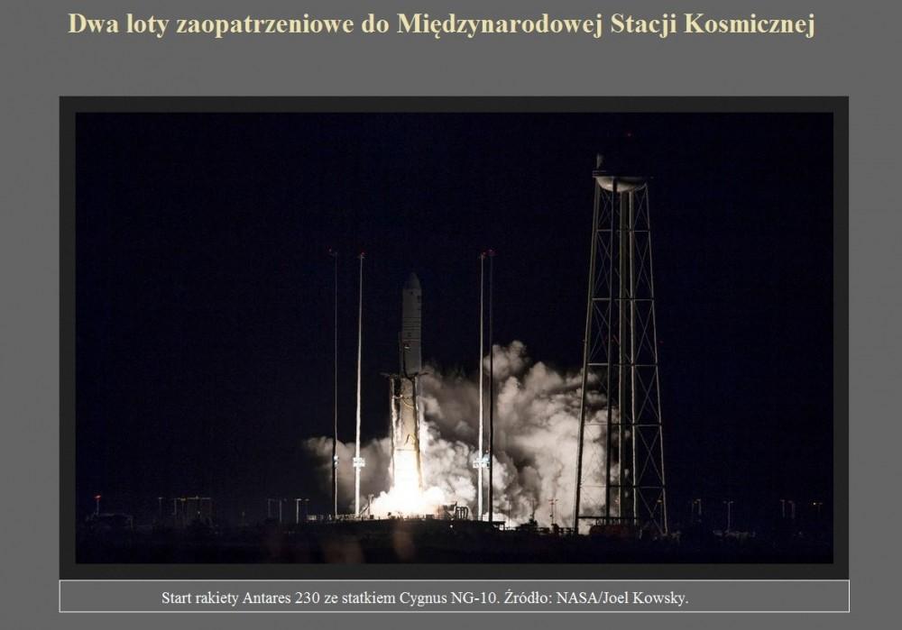 Dwa loty zaopatrzeniowe do Międzynarodowej Stacji Kosmicznej.jpg