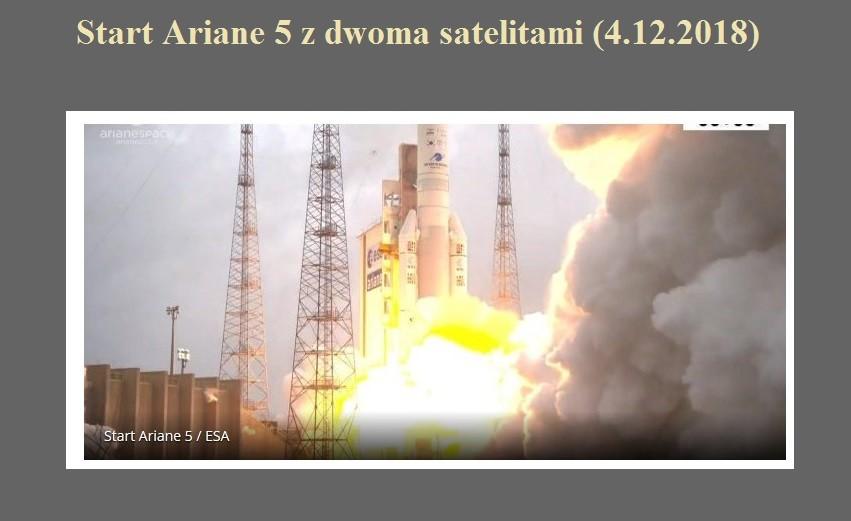 Start Ariane 5 z dwoma satelitami (4.12.2018).jpg
