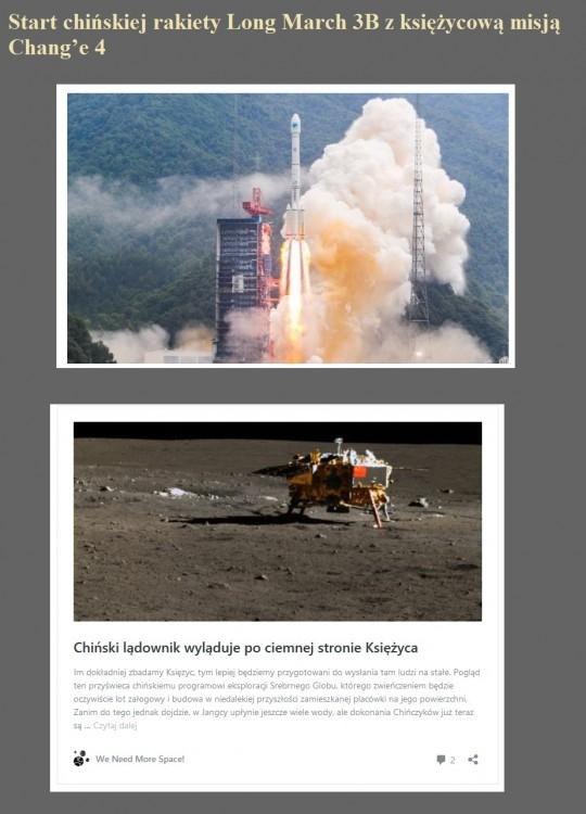 Start chińskiej rakiety Long March 3B z księżycową misją Chang'e 4.jpg