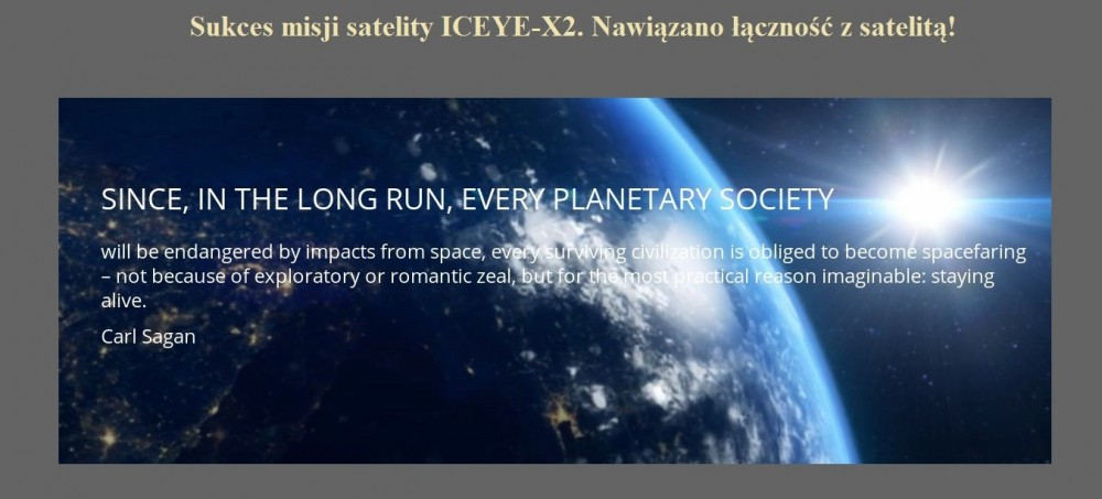 Sukces misji satelity ICEYE-X2. Nawiązano łączność z satelitą.jpg