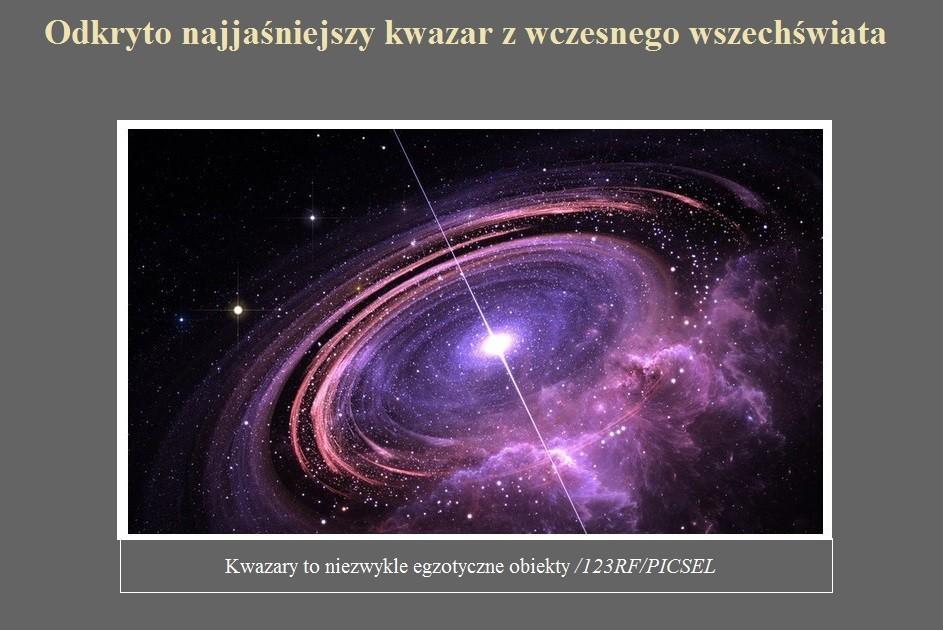 Odkryto najjaśniejszy kwazar z wczesnego wszechświata.jpg
