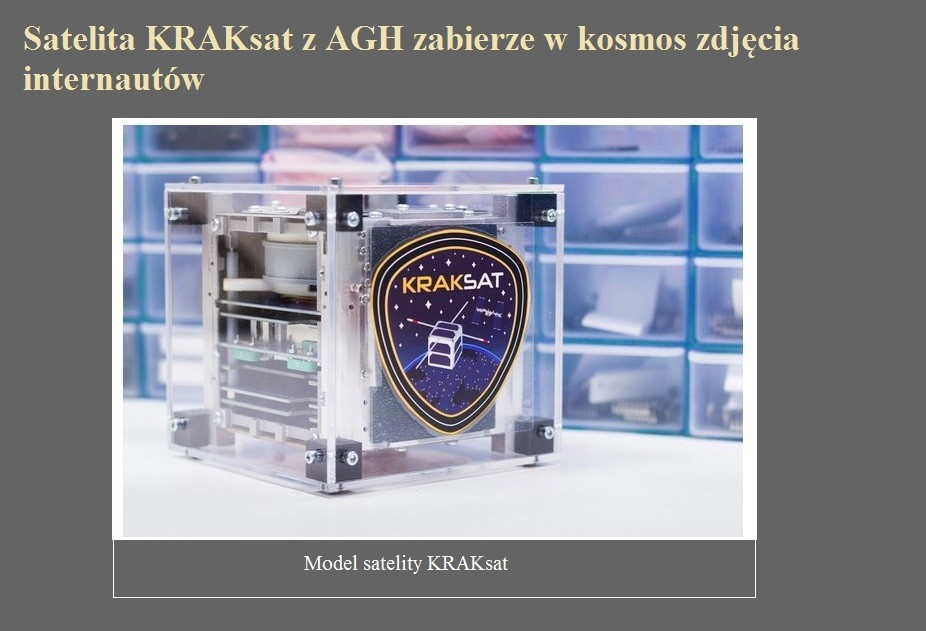 Satelita KRAKsat z AGH zabierze w kosmos zdjęcia internautów.jpg
