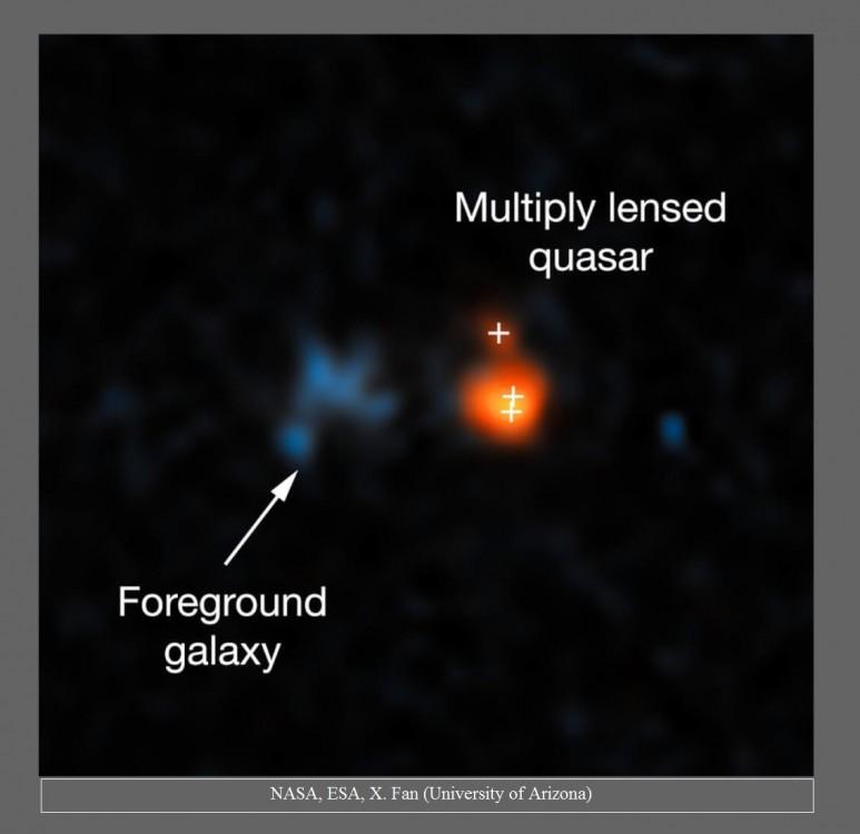 Hubble obserwuje najjaśniejszy kwazar we wczesnym Wszechświecie2.jpg