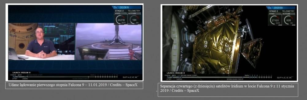 Udany start Falcona 9 z satelitami Iridium2.jpg