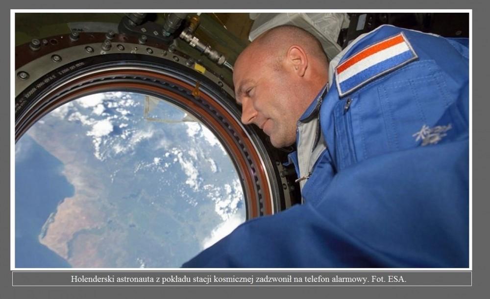 Holenderski astronauta z pokładu stacji kosmicznej zadzwonił na telefon alarmowy2.jpg