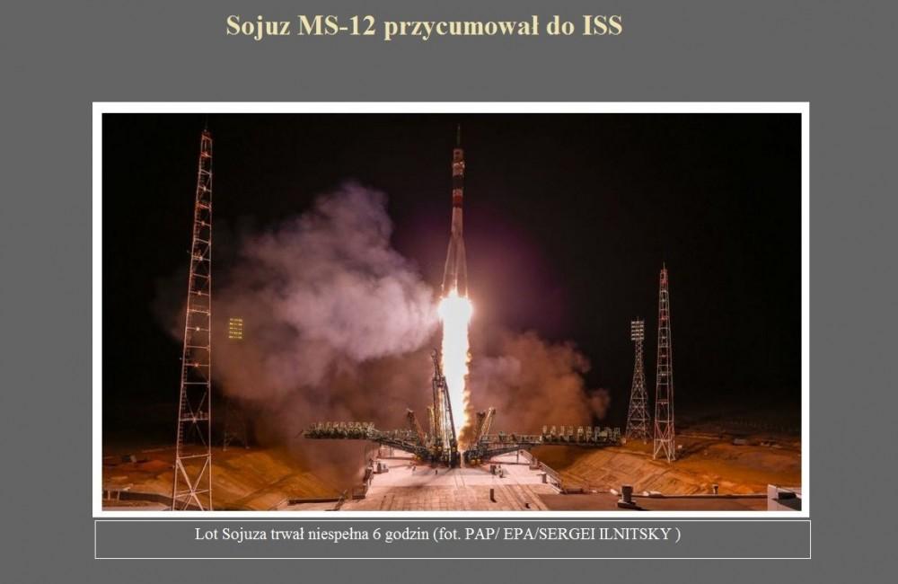 Sojuz MS-12 przycumował do ISS.jpg