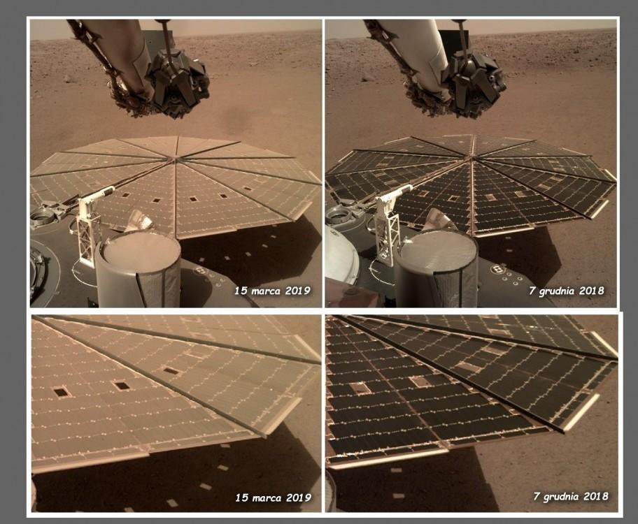 Panele solarne marsjańskiej sondy InSight niepokojąco szybko pokryły się pyłem2.jpg