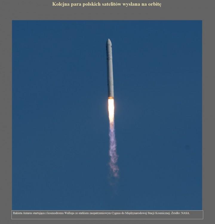 Kolejna para polskich satelitów wysłana na orbitę.jpg