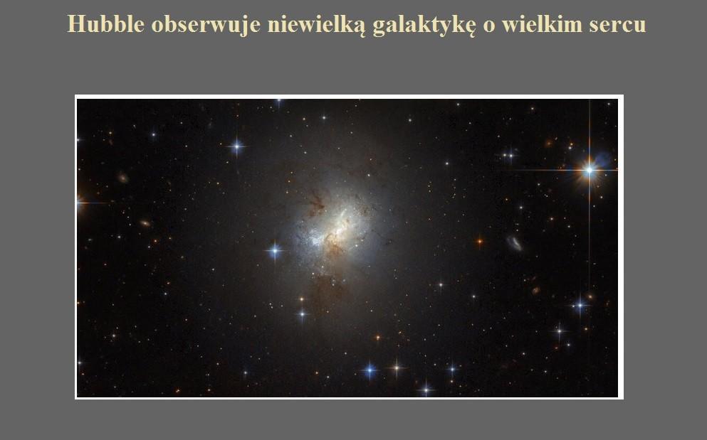 Hubble obserwuje niewielką galaktykę o wielkim sercu.jpg