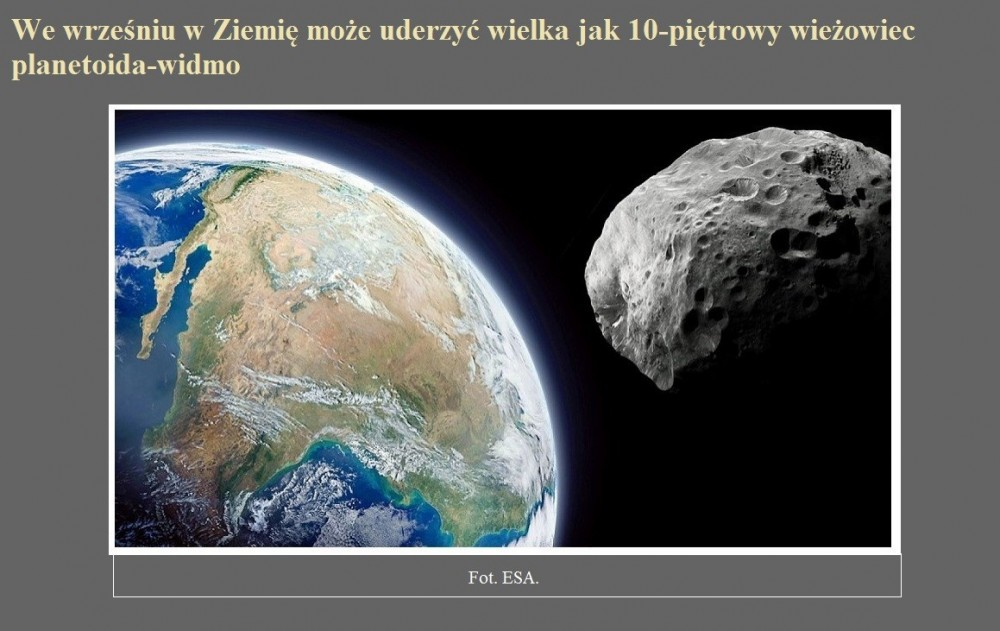 We wrześniu w Ziemię może uderzyć wielka jak 10-piętrowy wieżowiec planetoida-widmo.jpg