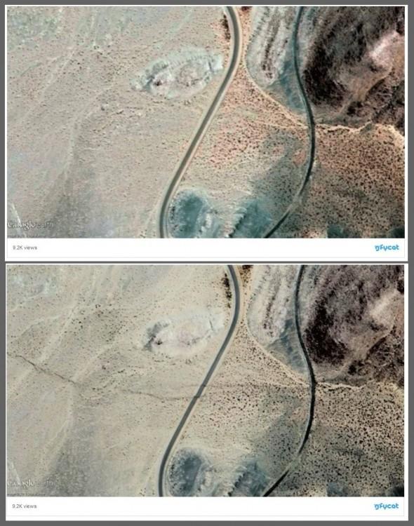 Po potężnym wstrząsie Kalifornia przesunęła się o 4 metry! Satelita ujawnił szokujące deformacje terenu2.jpg