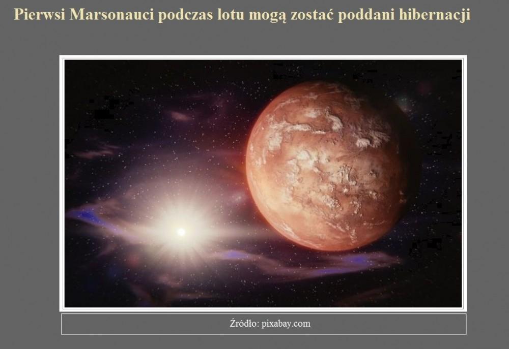 Pierwsi Marsonauci podczas lotu mogą zostać poddani hibernacji.jpg