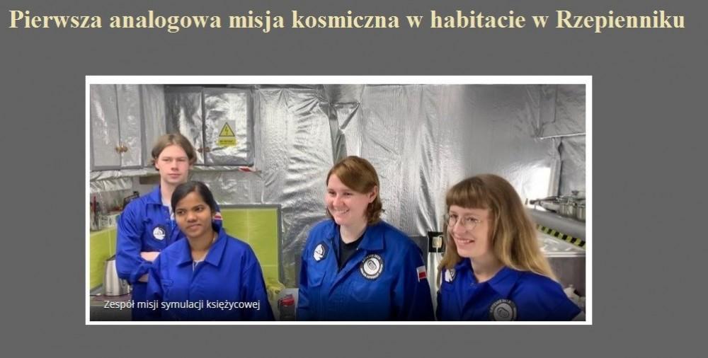 Pierwsza analogowa misja kosmiczna w habitacie w Rzepienniku.jpg