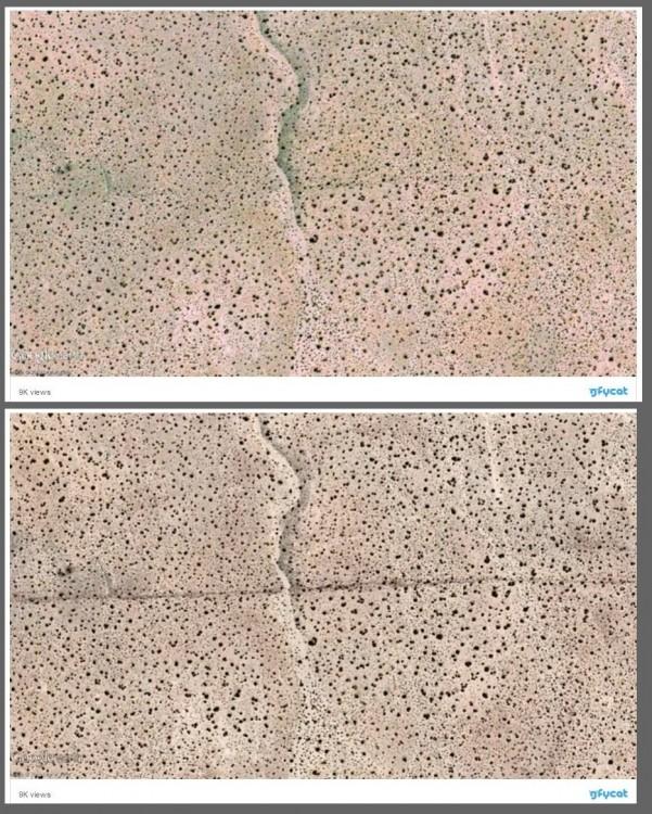 Po potężnym wstrząsie Kalifornia przesunęła się o 4 metry! Satelita ujawnił szokujące deformacje terenu5.jpg