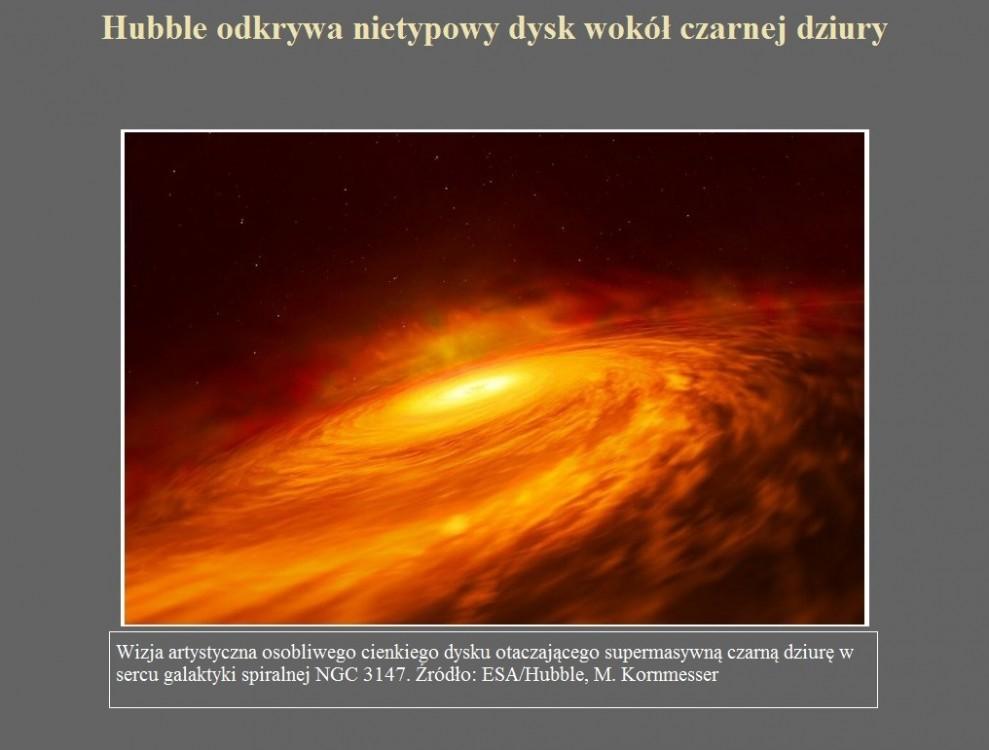 Hubble odkrywa nietypowy dysk wokół czarnej dziury.jpg