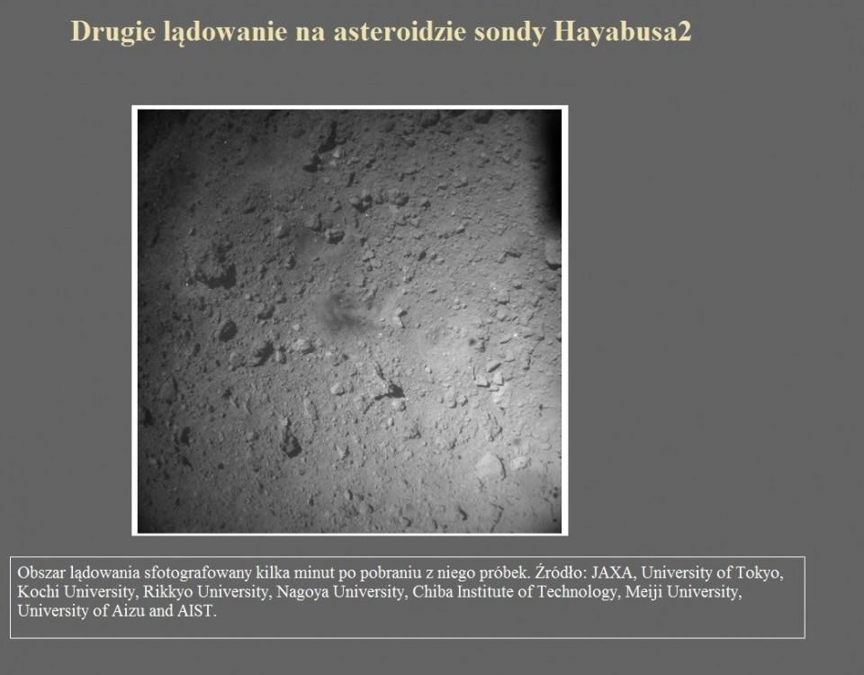 Drugie lądowanie na asteroidzie sondy Hayabusa2.jpg