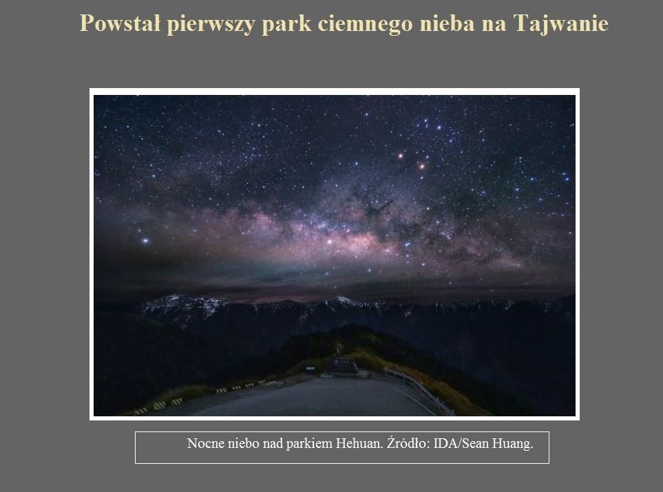 Powstał pierwszy park ciemnego nieba na Tajwanie.jpg