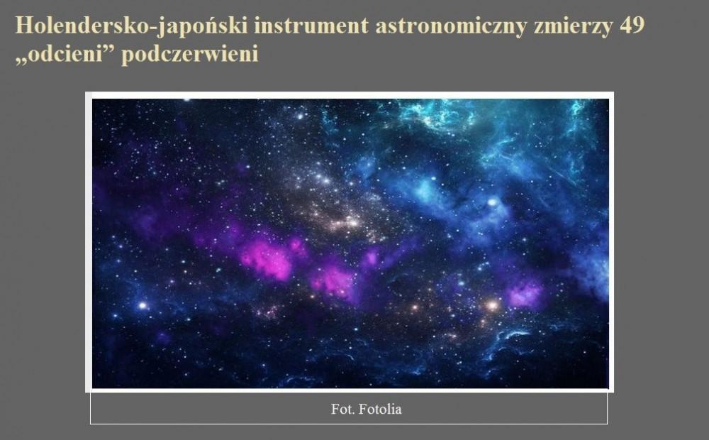 Holendersko-japoński instrument astronomiczny zmierzy 49 odcieni podczerwieni.jpg
