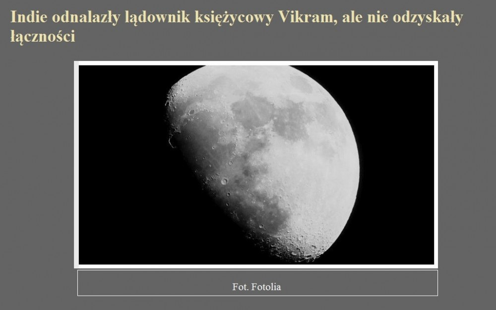 Indie odnalazły lądownik księżycowy Vikram, ale nie odzyskały łączności.jpg