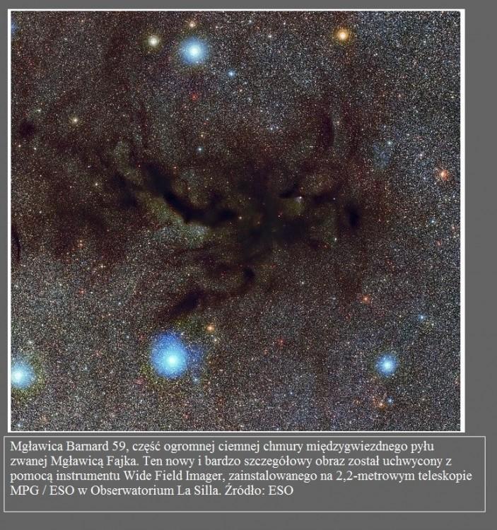 Kosmiczny precel dwie niemowlęce gwiazdy w wirującym gazie i pyle2.jpg