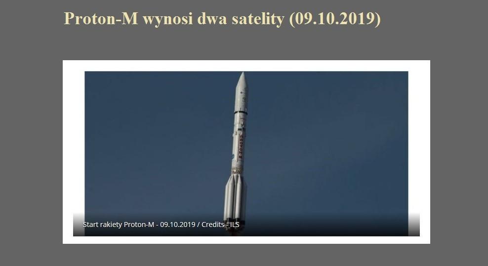 Proton-M wynosi dwa satelity (09.10.2019).jpg