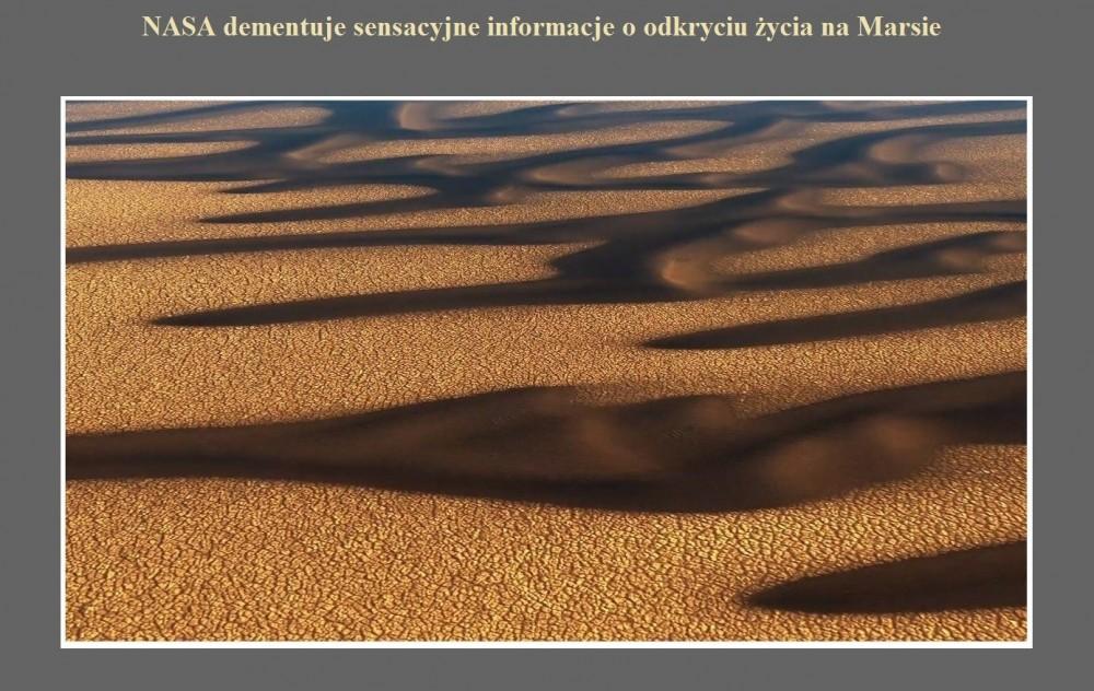 NASA dementuje sensacyjne informacje o odkryciu życia na Marsie.jpg