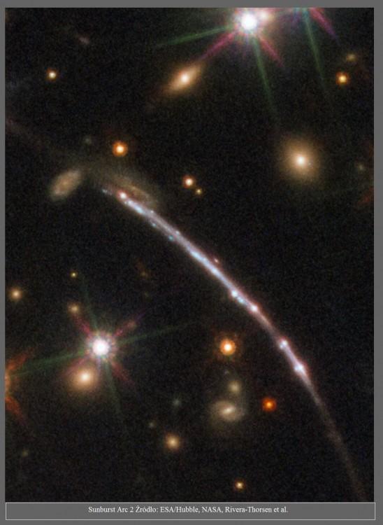 Hubble obserwuje tuzin obrazów jednej galaktyki3.jpg